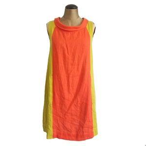 UNCLE FRANK orange shift vintage styled dress S